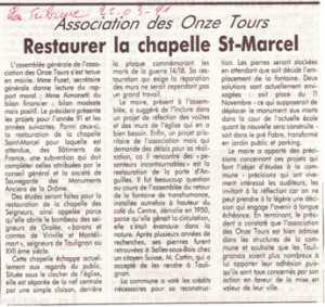 St Marcel -article 1991