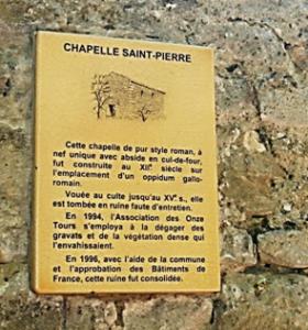 plaque-chapelle St Pierre