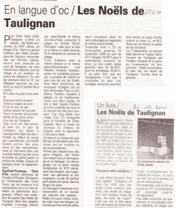 Noëls de taulignan-article