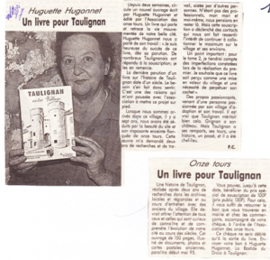 un livre pour taulignan - Hugonnet- 1997-article