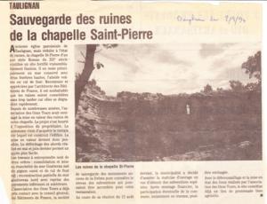 chapelle St pierre- article2-1994