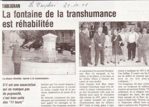 fontaine transhumance- bourgade réhabilitée-article