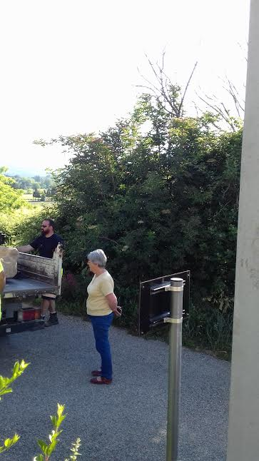 Mme Bois, propriétaire de la ferme au moment du départ du sarcophage - photo JPB