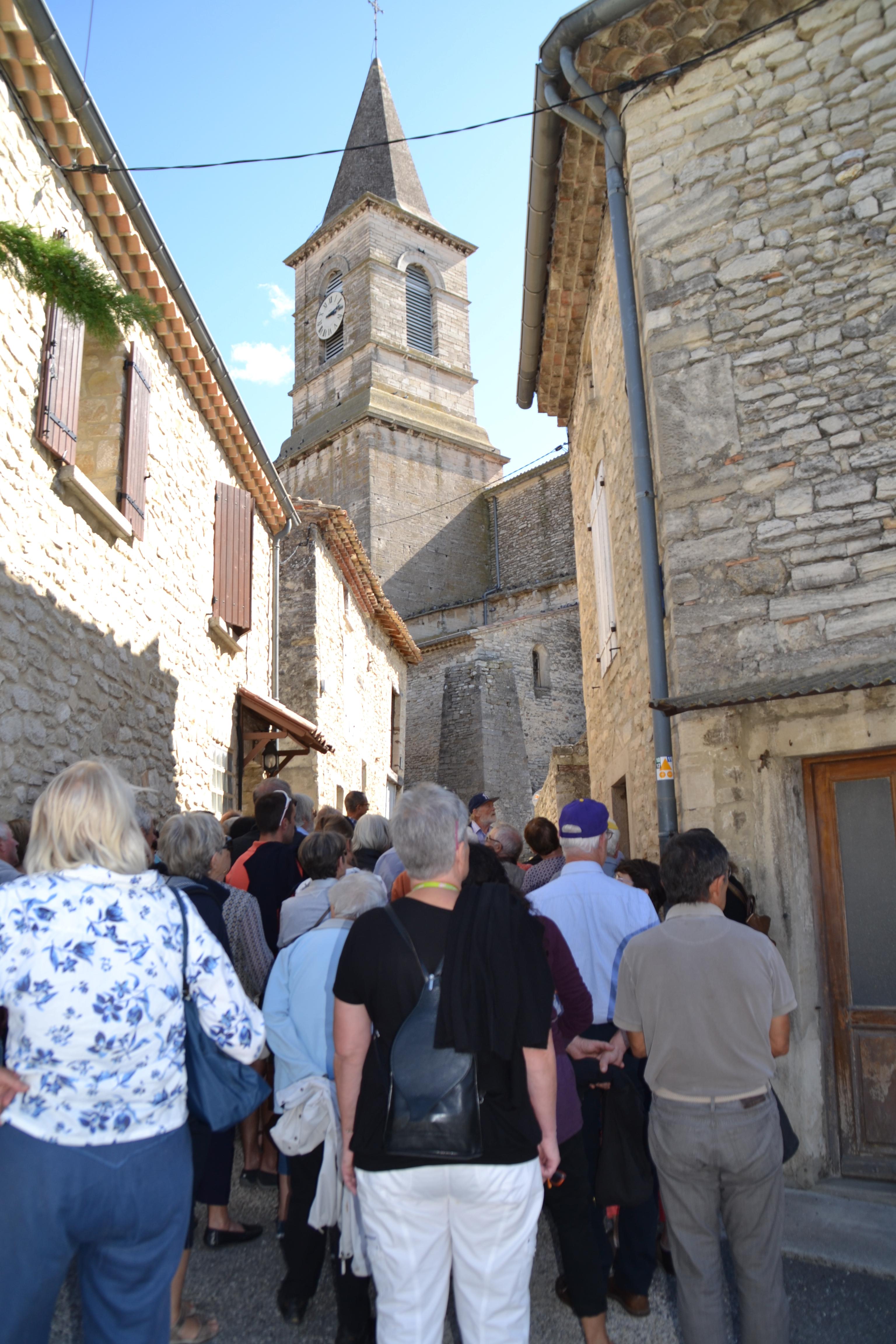 Montée vers l'église St Vincent