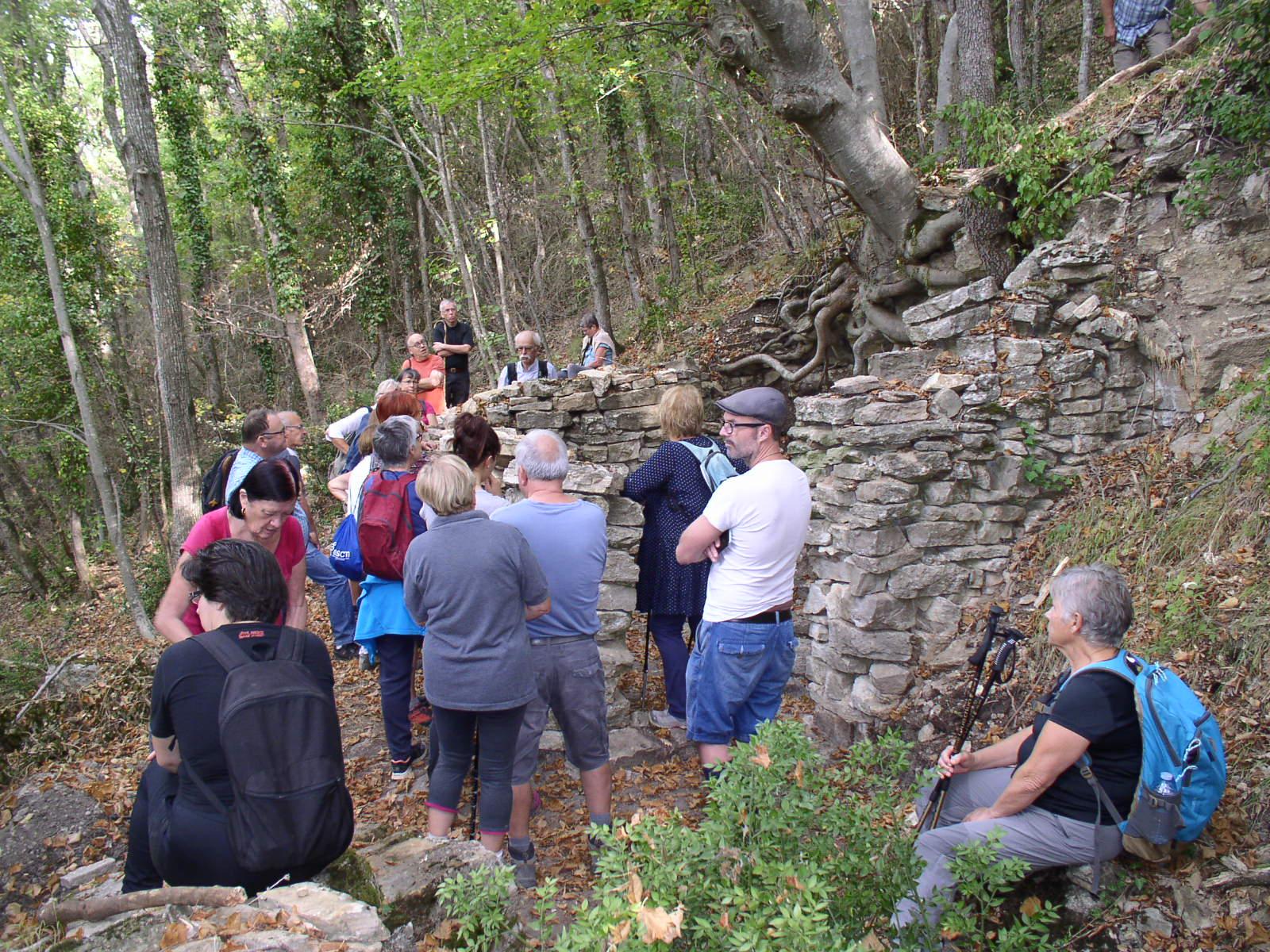 Les ruines de la cabane des charbonniers